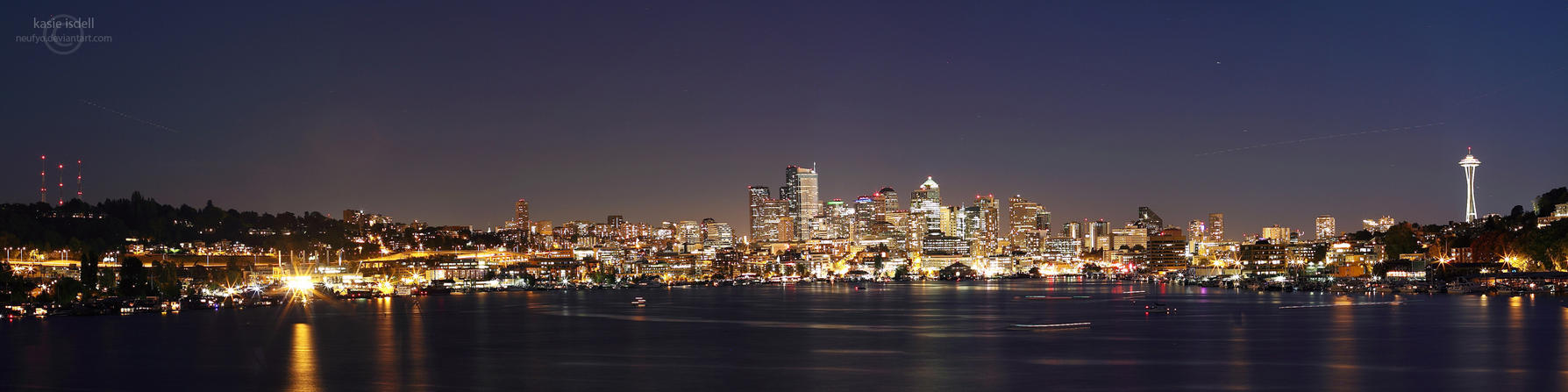 Seattle skyline by kasieisdell