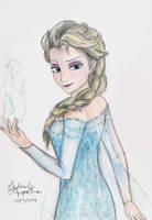 Frozen - Elsa by iBluePanda