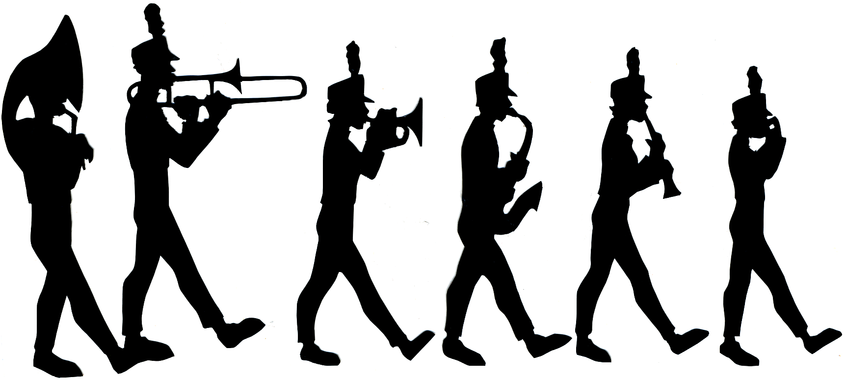 Marching Band Silhouet...
