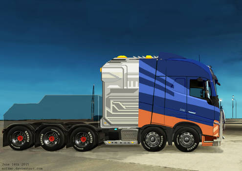 Heavy Duty Tractor Unit with Prototype Engine