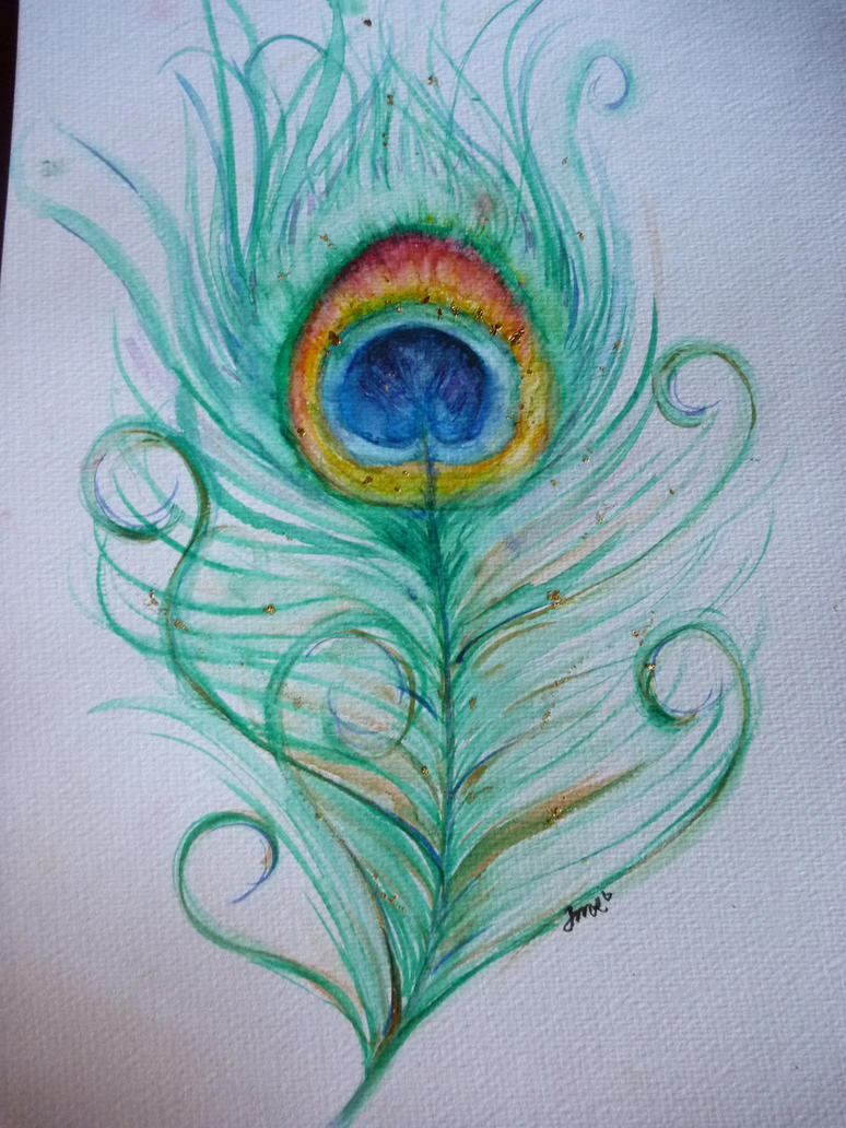Peacock feather by jorgema on deviantart for Where can i buy peacock feathers craft store