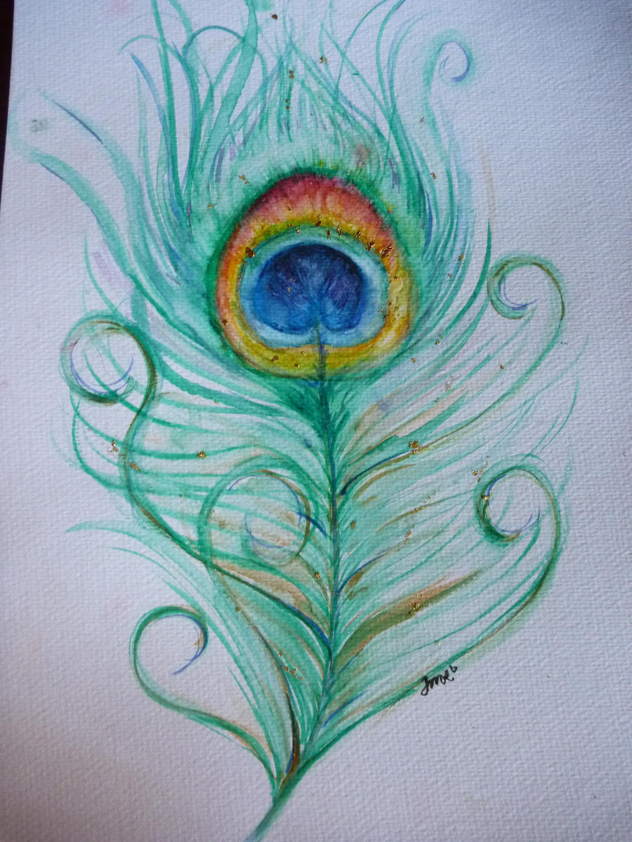 Peacock feather by jorgema on deviantart for Easy peacock paintings