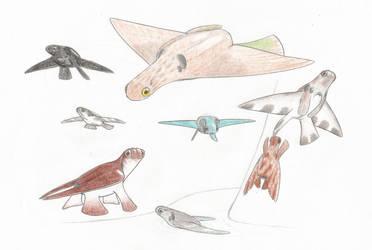 Jetbirds by Biofauna25