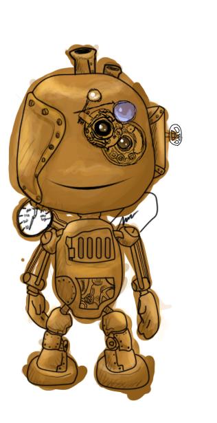 Steampunk boy - Sorta improved by rukiara on deviantART