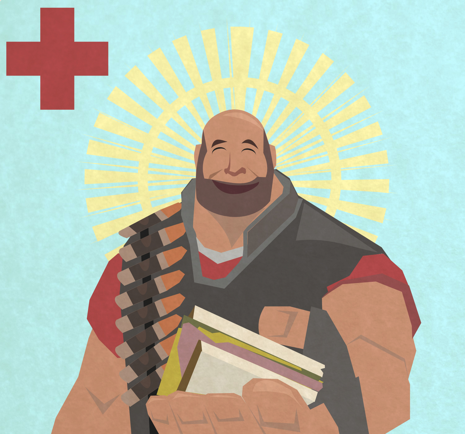 Team Fortress 2 Fat Medic (Sandvich Heavy) by sharoku
