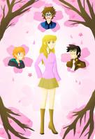 Memories at the Sakura Trees by Shiny-Duck