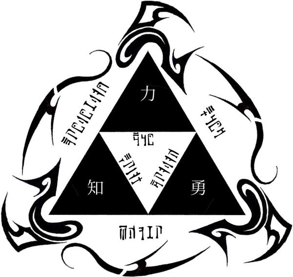 Triforce tattoo design 2 by ultharwe