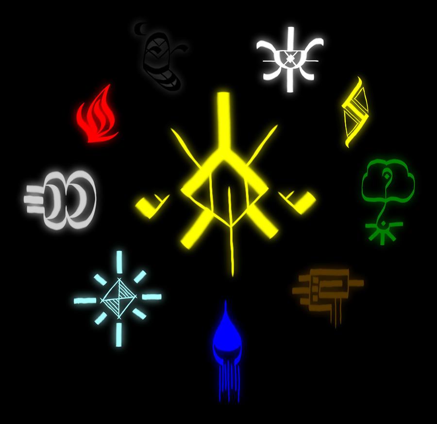 mirror of shadows elemental symbols by timeseerstudios on