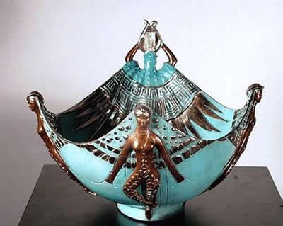 Erte Apollo Bronze Bowl by mikeathartan