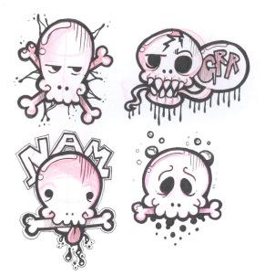 Skulls by Hare-Bo