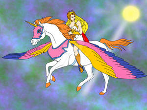 She-Ra and Swiftwind in Flight