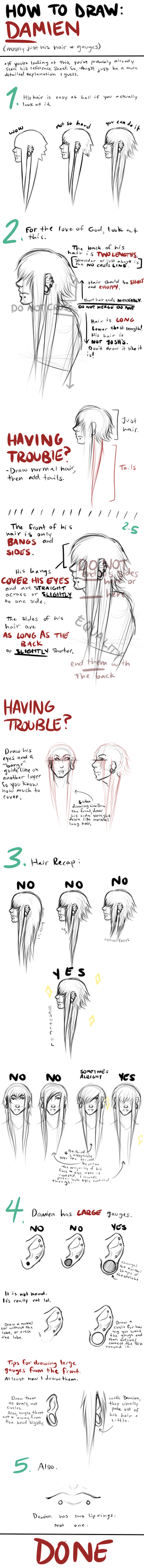 How To Draw Damien by strxbe
