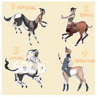 Antelope Centaur Adopts 1 [CLOSED] by strxbe