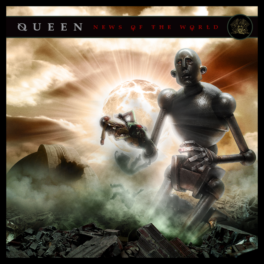 Queen - News of the World by brunomazzini on DeviantArt Queen News Of The World Cover Art