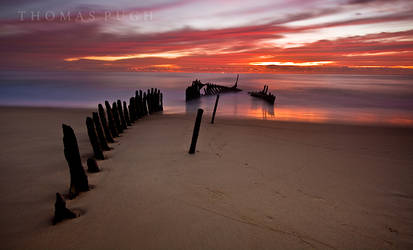 Red Sky Over The Wreck
