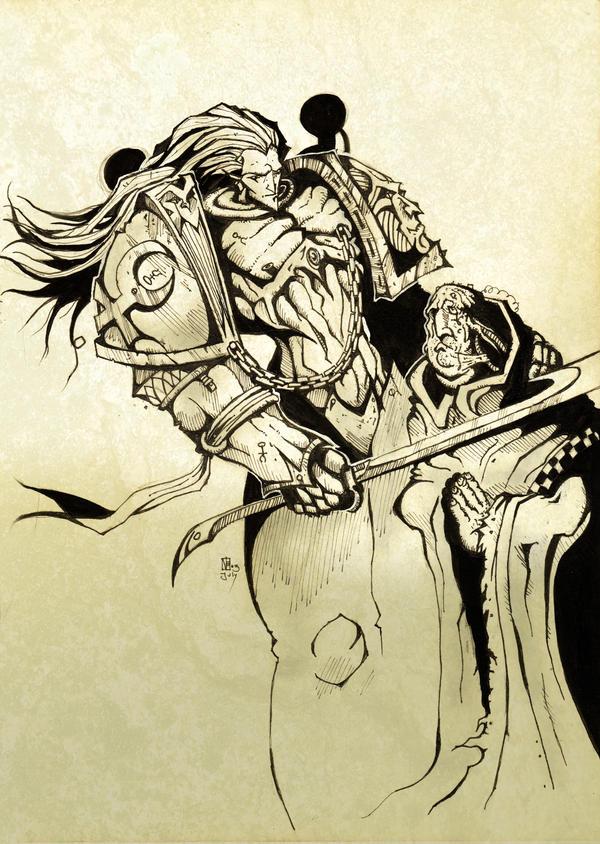 Slaanesh comic marine by mr-nick