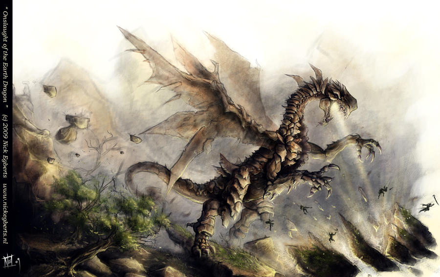 Onslaught of the Earth Dragon by mr-nick