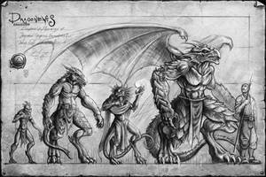 Dragonewt line-up by mr-nick