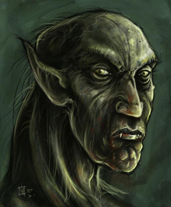 Old vampire geezer portrait