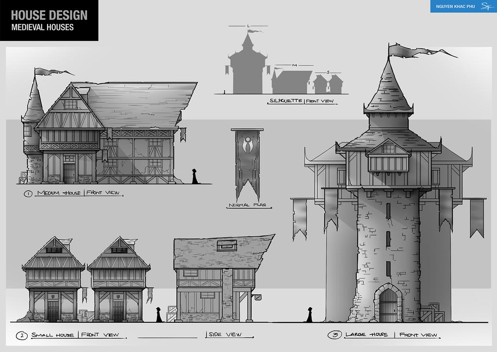 100 medieval house plans the anatomy of a medieval for Medieval house design
