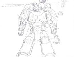 Primaris SM Sketch by LordArcheronVolistad