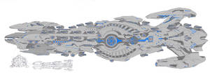 AHE Septentrion Charger Type Dreadnought by LordArcheronVolistad