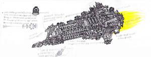 Agamemnon Class Battlecruiser by LordArcheronVolistad