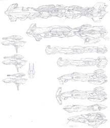AHE Starship Concepts 2 by LordArcheronVolistad