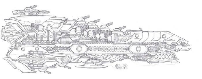 Reclaimer Watchman Class Warcruiser by LordArcheronVolistad