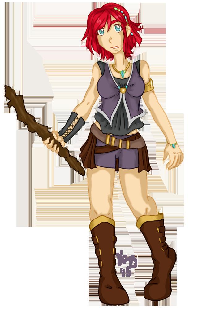 Character Design- Renn by StegeKay