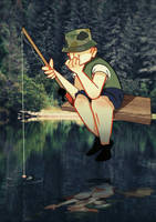 THE FISHERMAN (Mike Henri art style) by WILLIFINK