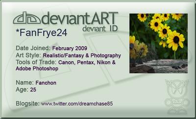 Deviant Art ID Card by FanFrye24