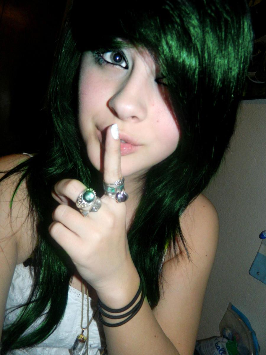 Green Hair By Aquastar695 On Deviantart