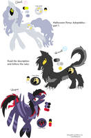 MLP: Points Halloween Adoptables-CLOSED- by GalaxyAcero