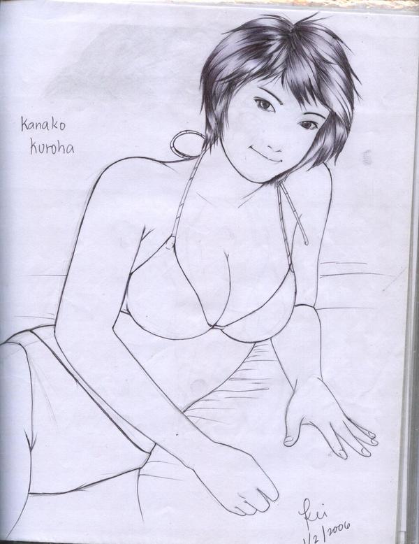 kanako kuroha line art by karlonne