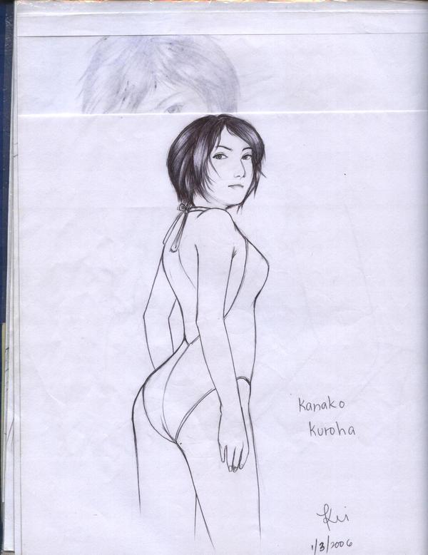 kanako kuroha line art 2 by karlonne