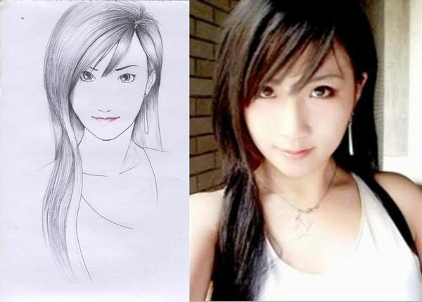 tifa lockheart cosplay sketch by karlonne