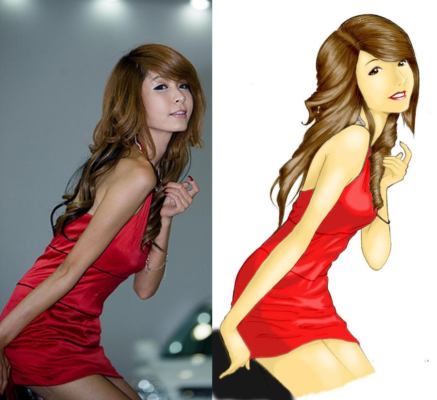 korean model - song joo kyung by karlonne