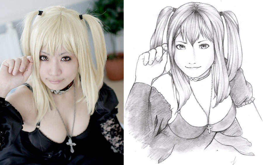 anime art-shino arika pencils by karlonne