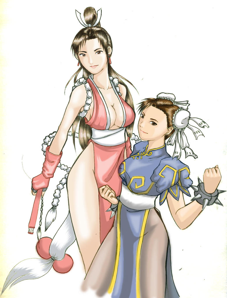 Mai and Chunli by karlonne