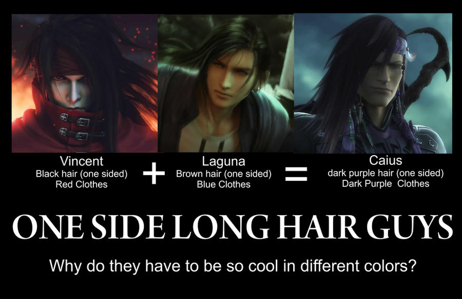 Final Fantasy Long hair guys by karlonne