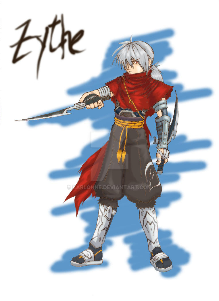 ZYTHE the ninja colored by karlonne