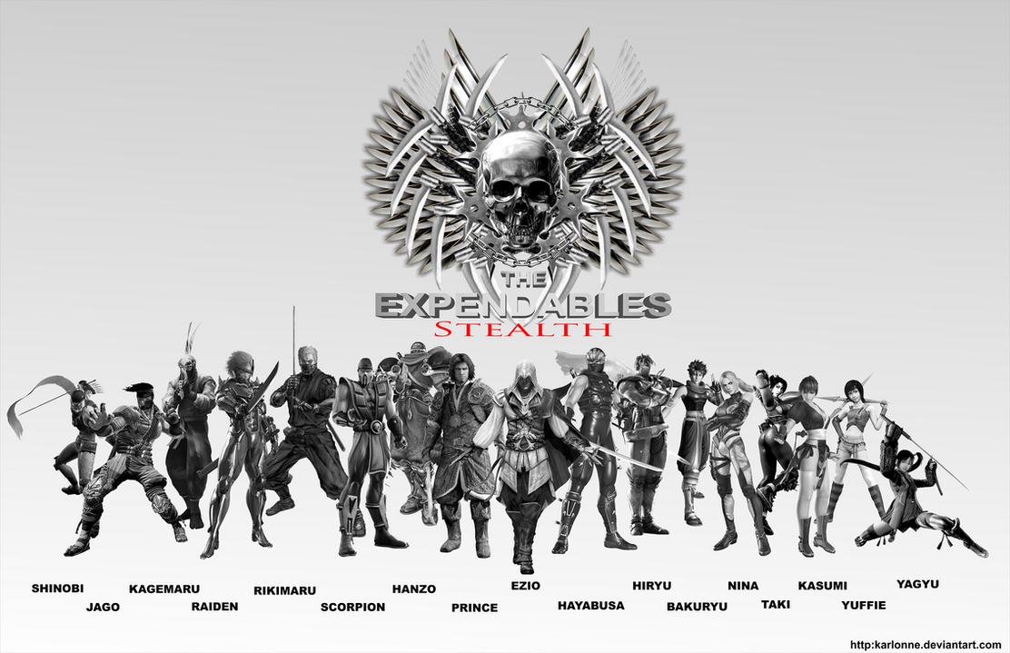 The EXPENDABLES stealth poster by karlonne