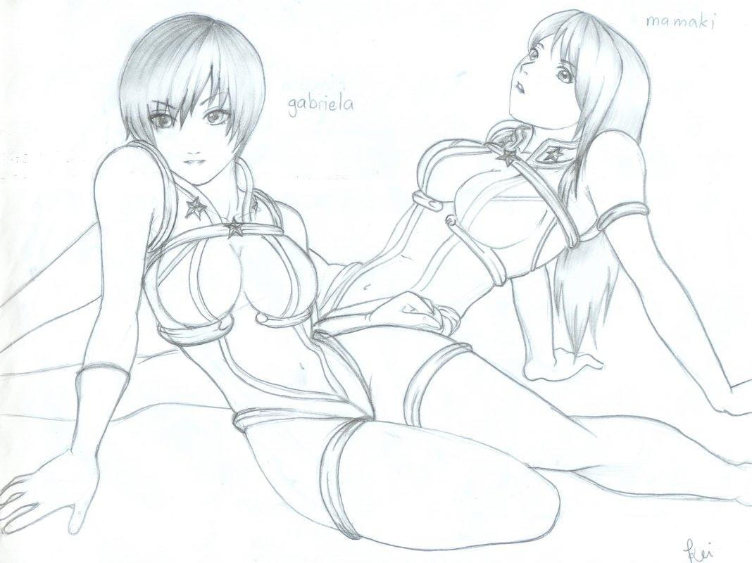 mamaki and gabriela pose by karlonne