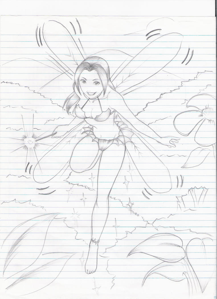 a SKETCH of a fairy by karlonne