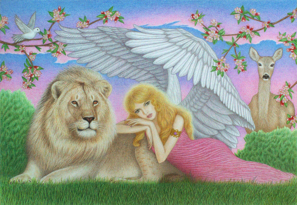 Angels Job Ariel: Archangels Ariel And Metatron Painting By Steve