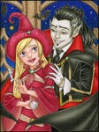 Pencil Coloring - Vampire Romance by winry7405
