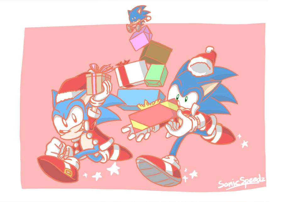 Sonics Santa by SonicSpeedz