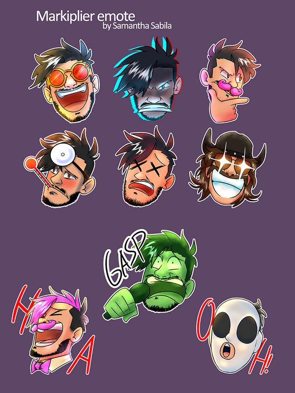 Markiplier Twitch Emotes by SonicSpeedz on DeviantArt Markiplier Twitch