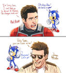 Sonic with Paul Rudd and James Marsden